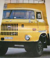 Prospekt DDR LKW  IFA W 50 Modellprogramm Pritsche, Koffer, Kipper - 1974