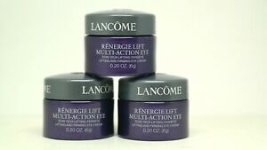 3x Lancome Renergie Multi Action Eye Lifting and Firming Eye Cream 0.60 oz Total