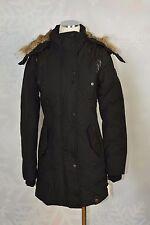 "Rudsak ""Auralie"" Real-Fur-Trim Leather-Trim Coat   size S   NWT"