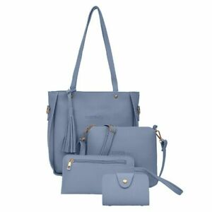 Woman Bag Set 4pcs Purse Handbag Shoulder Messenger Bag Fashion Female Purses