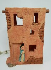 Friends Of The Feather By Enesco 1996 Tall Chreche 199664 Light up Adobe House