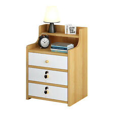 Modern Bedside Table Cabinet 2/3 Chest of Drawers Storage Nightstand Bedroom UK~