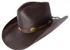 Stetson Shantung Straw Roxbury Western Hat ROXB-STRAW-MOCHA