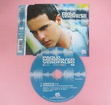 CD singolo PAOLO MENEGUZZI VERO FALSO 2003 RICORDI 82876529412 no mc lp vhs(S18)