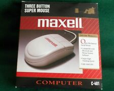 MAXELL COMPUTER MOUSE WITH PS/ 2 CONNECTION MODEL C-401  NEW
