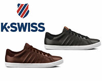 New Mens K-Swiss Belmont Low Top Leather Tennis Casual Trainer Shoe