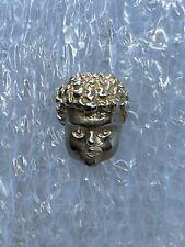 Men's Tie Tack Lapel Pin Caesar Greek Mythology Angel Face BEAUTIFUL!