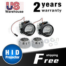 "HID Projector 2PCS Nilight 2.5"" Mini Bixenon Lens Conversion Kit for H1 Bulb"