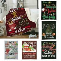 3D Christmas Printed Soft Flannel Blanket Warm Throw  Cover This is my FUNNY