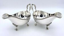 More details for 19th century silver plate sauce boats by james dixson – circa 1890