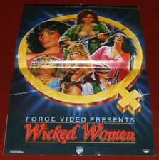 WICKED WOMEN 1980s ORIG VHS VIDEO POSTER BOOK EXPLOITATION B MOVIE JOAN COLLINS