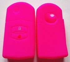 PINK SILICONE CAR FLIP KEY COVER FOR MAZDA 2 BUTTON 3 2 6 MPS SP23 CX7 CX9