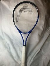 HEAD TENNIS RACKET NANO TITANIUM TI CONQUEST METALLIC BLUE, WHITE, BLK. THEME