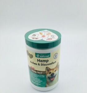 Naturvet Hemp Aches & Discomfort Glucosamine Soft Chew for Dogs 60ct