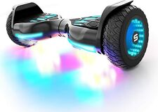 """Swagtron Warrior XL Off-Road Hoverboard Bluetooth w/ 8"""" Wheels & 30 Music-Synced"""