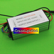 1x DC12V-24V 50W High Power LED Waterproof Driver Constant Current 1500mA 30-36V
