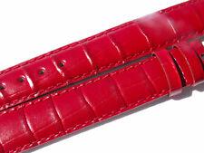 Chopard Croco Band Strap Red 15 Mm 80/120 New C15-8 -70%