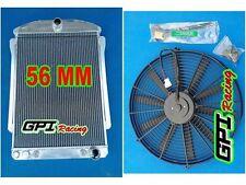 Aluminum Radiator For CHEVY CAR STREET ROD AUTO 1940 1941 +FAN 40 41 56MM