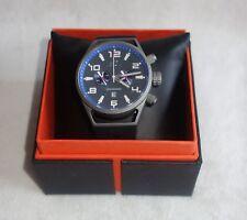 Adee Kaye Men's Silicone Strap Black /GRAY Chronograph Watch AK7232-M NEW