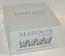 Marquis By Waterford Markham Double Old Fashioned Glasses, Set Of 4 New