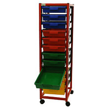 Single Column 12 Level A4 Classroom Trolley