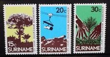 SURINAME 1972 Forestry Commission: Trees. Set of 3. Mint Never Hinged. SG741/743