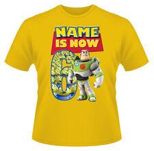 Toy Story Buzz Personalizado De Niño Camiseta Chica Edad 6 IDEAL REGALO
