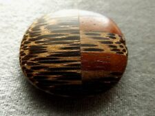 ROUND WOODEN PENDANT/FOCAL MULTI COLORED 36X39 MM