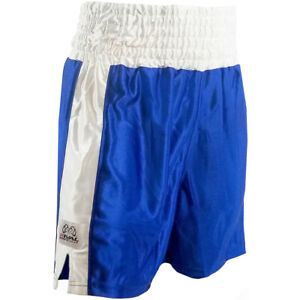 Rival Boxing Youth Dazzle Traditional Cut Competition Boxing Trunks - Blue/White