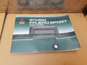 Mitsubishi Pajero Sport Owners Handbook Manual 2.5 shogun 1998 1999 2000 2001