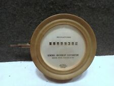 VINTAGE PORTHOLE BRASS CASE GENERAL MACHINERY CORP STEAMSHIP REVOLUTION COUNTER