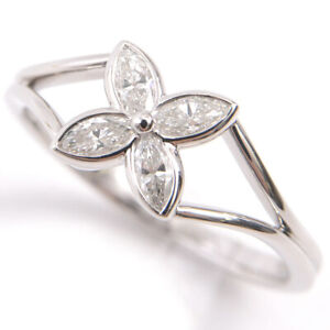 TIFFANY&Co. Flower Victoria Diamond Ring Used Excellent++ US6 From Japan