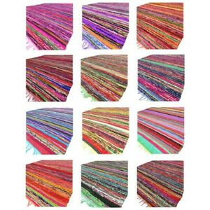 3X5 to 5X8 ft. Colorful Decorative Chindi Woven Tassel Area Rag Rug Bohemian Acc