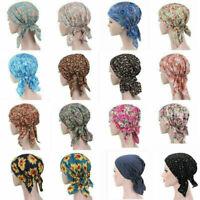Women Flower Muslim Hair Loss Head Scarf Cancer Hat Chemo Cap Turban Head Wrap
