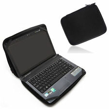 "11.6"" 12"" Black Laptop Sleeve Case Bag w/ 4 Straps For HP Dell Lenovo Thinkpad"