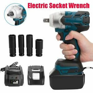 "18V 520Nm Cordless Brushless Torque Impact Speed Wrench 1/2"" Body Makita Battery"