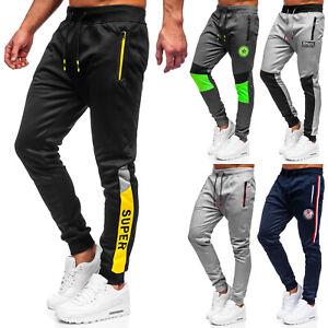 Sykooria Jogginghose Herren Slim Fit Baumwolle Sporthose mit Handtuchschlaufen und Rei/ßverschlusstaschen