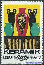 Reklamemarke LEIPZIG, Ury - L. Plagwitz, Keramik (#25684)