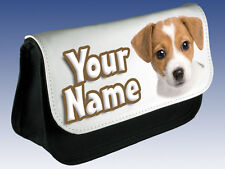 JACK RUSSELL PENCIL CASE / DS CASE / MAKE UP BAG - GREAT GIFT & NAMED TOO