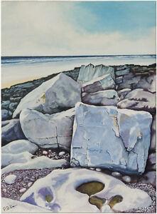 Modern Rocks Five Rest Bay Acrylic seascape painting on canvas
