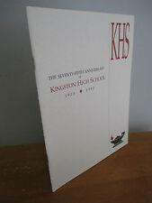 KINGSTON NY HIGH SCHOOL 75th Anniversary Book, 1915-1990