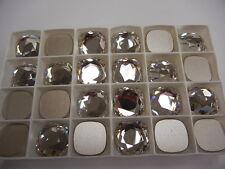 6 swarovski fancy flatbacks,18mm crystal/foiled #2470