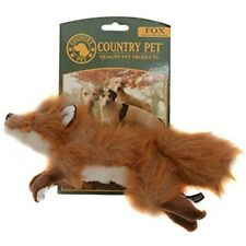Country Pet Dog Toy Fox With Squeaker, Large - Squeaker Plush