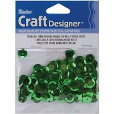 Darice 1004460 Cupped Sequins 8mm Kelly Green 200-pack