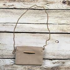 EUC Danielle Nicole Stone Gold Crossbody Bag Purse New York Polyurethane
