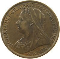 GREAT BRITAIN PENNY 1897 VICTORIA #a31 217