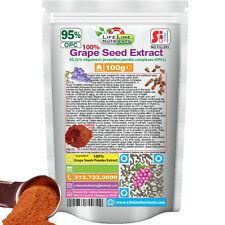 100g (3.53 oz) 100% Grape Seed Powder Extract - 95% OPC - Free Shipping