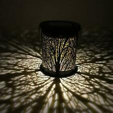 Metal Rattan Outdoor Solar Hanging LED Light Garden Yard Decoration Lamp