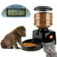 5.5L Automatic Pet Feeder Food Dish Bowl Dispenser LCD Display For Dog Cat