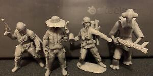 Pack of 4 Bounty Hunters Blasters Mando Rifle (custom Star Wars Legion) 3D